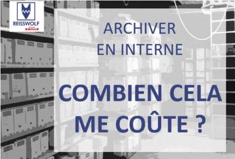 coût archivage interne